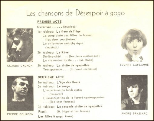 Désespoir à Gogo, Chansons